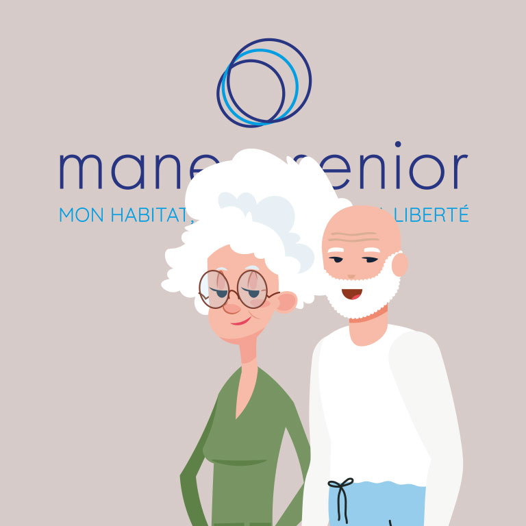 Couple de seniors qui se rendent chez maneo senior